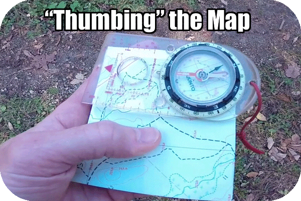 thumbing the map